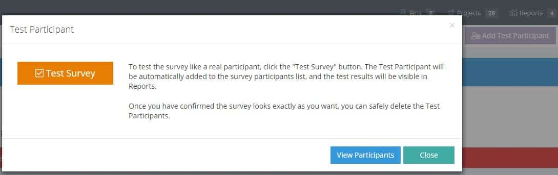 Test Survey Participant