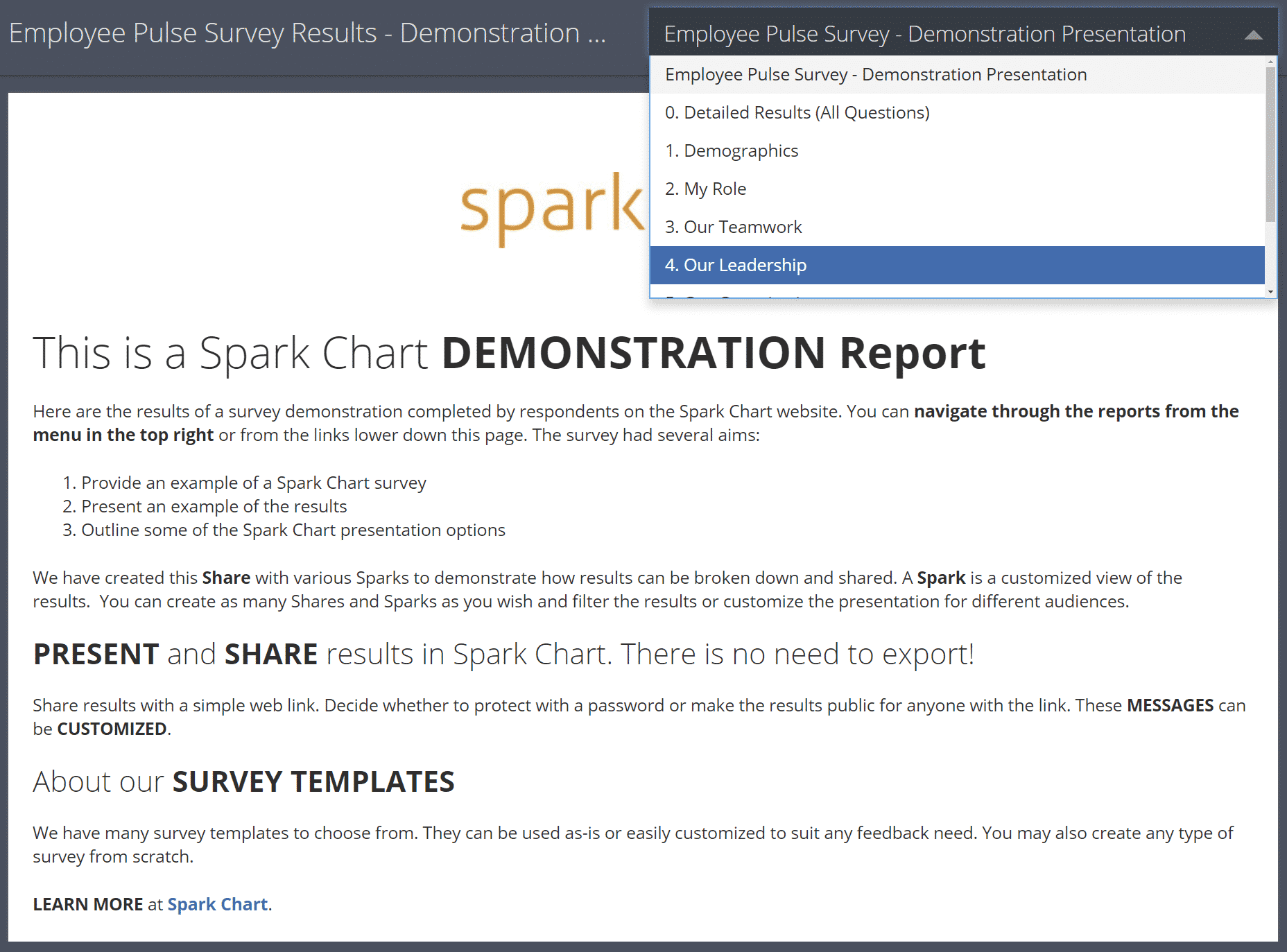 Survey Report Share